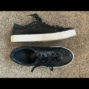 leather topshop sneakers